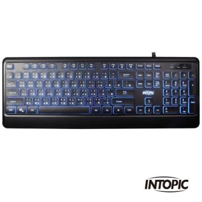 INTOPIC 廣鼎 USB多媒體發光巧克力鍵盤(KBD-78L)