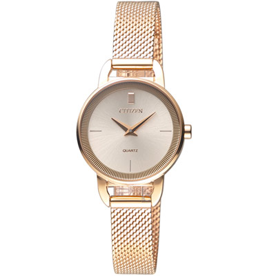CITIZEN 優雅時尚米蘭風時尚腕錶(EZ7003-51X)32mm