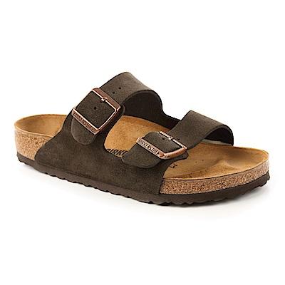 勃肯BIRKENSTOCK 051901。亞利桑那經典二條拖鞋(深咖啡)