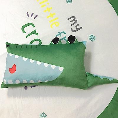 HUEI生活提案 水晶絨 可拆洗動物造型造型枕 鱷魚