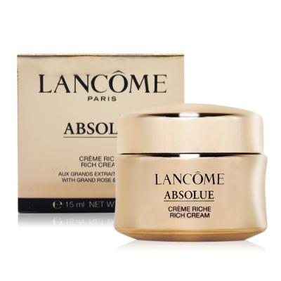 (期效品)LANCOME 蘭蔻 絕對完美黃金玫瑰修護乳霜豐潤版15ml-期效202106