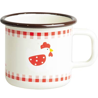 《EXCELSA》單柄琺瑯杯(雞325ml)