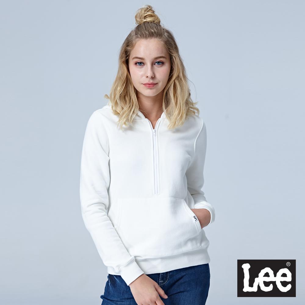 Lee 拉鍊運動帽Tee-白色