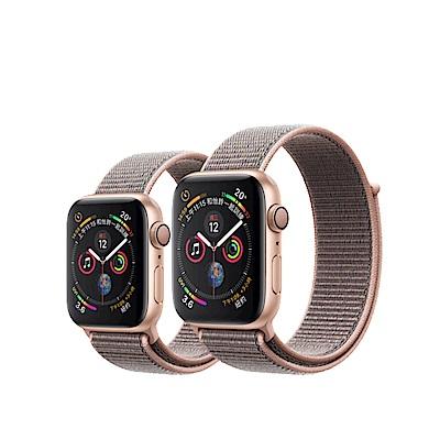 Apple Watch S4 44mm GPS版金鋁金屬錶殼配粉沙色運動型錶環MU6G