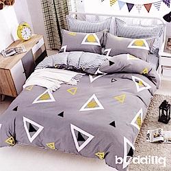 BEDDING-活性印染3.5尺單人薄床包涼被組-極簡生活