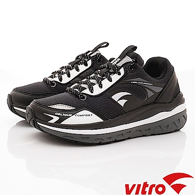 Vitro韓國專業運動品牌-OC106-BLK頂級健走機能鞋-黑(女)