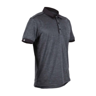 FIRESTAR 男短袖高爾夫球衫-POLO衫 高爾夫球 慢跑 灰黑