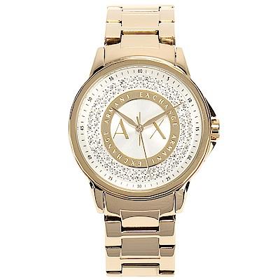 A/X Armani Exchange 時尚晶鑽鋼帶女腕錶-(AX4321)-35mm