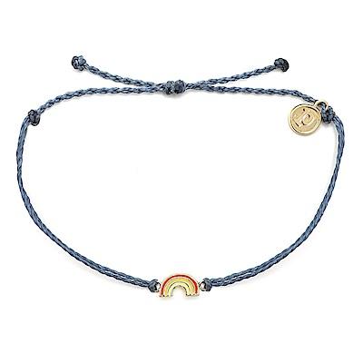 Pura Vida 美國手工 金色彩虹 藍灰色臘線衝浪手鍊手環