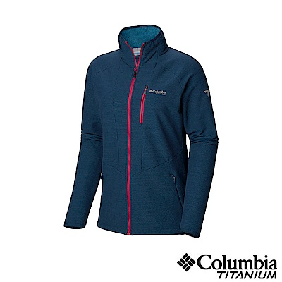 Columbia 哥倫比亞 女款-鈦 防潑彈性外套-深藍 UAR26480NY