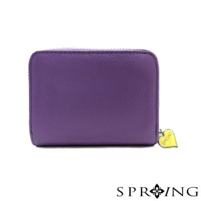 SPRING-低調的三層多用鑰匙零錢包-奢華紫