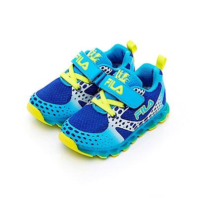 FILA KIDS 小童電燈TPR慢跑鞋-藍 7-J452T-339