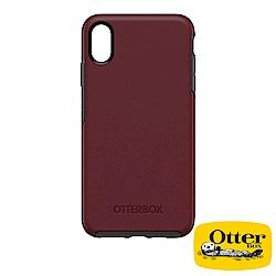 OtterBox iPhoneXS Max炫彩幾何系列保護殼-酒紅
