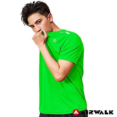 【AIRWALK】男款吸排短T - 螢光綠