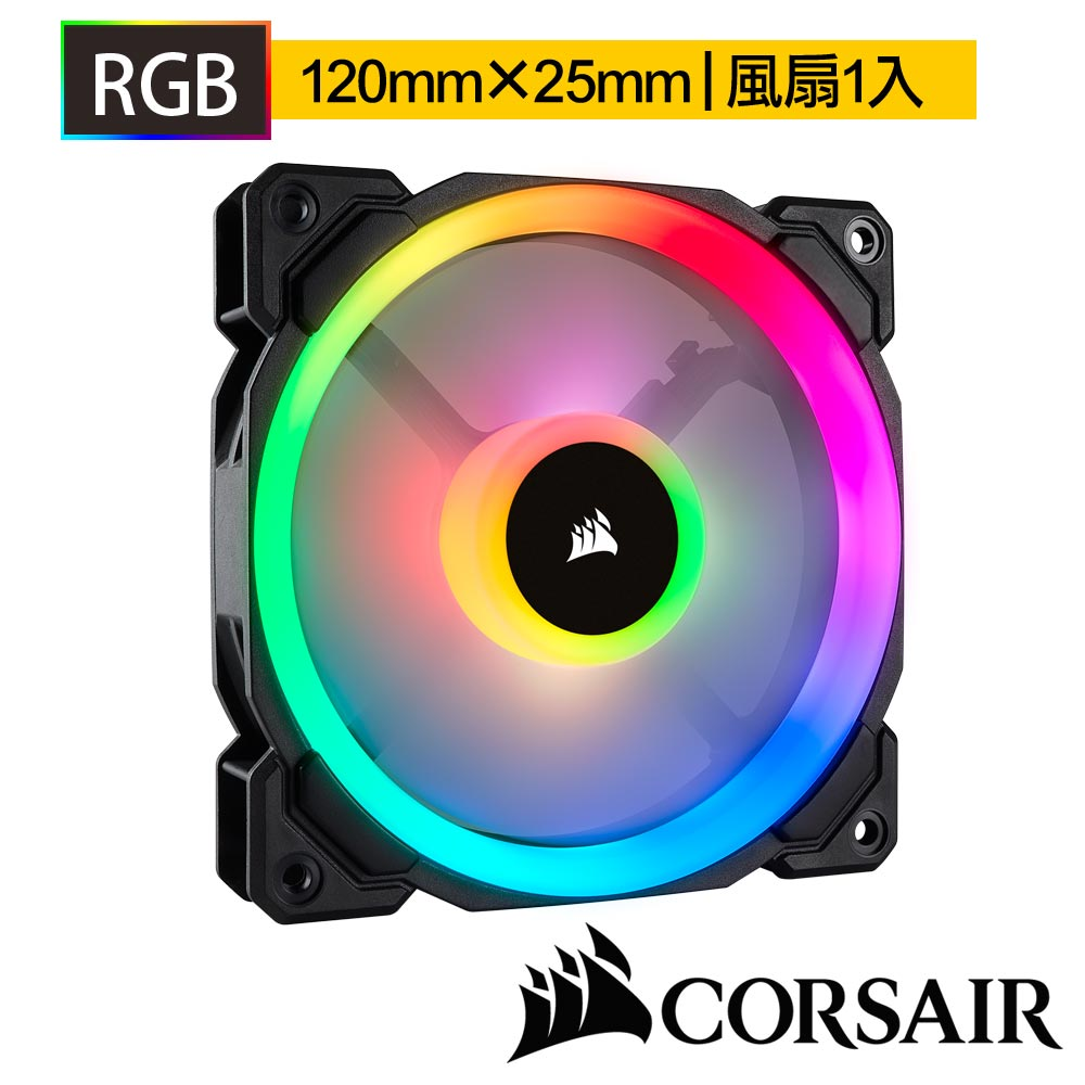 CORSAIR海盜船 LL140 RGB LED140mm PWM風扇