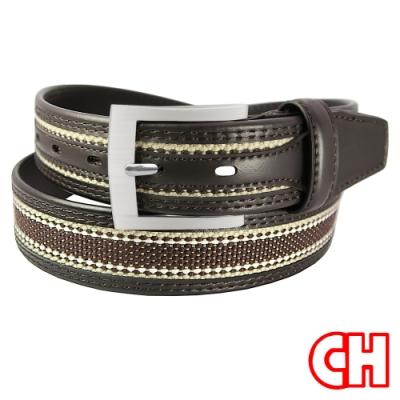 CH-BELT造型時尚玩色帥氣型男休閒皮帶腰帶(咖)