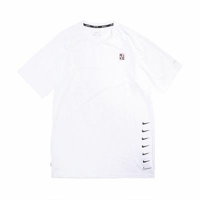 Nike T恤 Multi Swoosh Top 圓領 男款 防曬 運動休閒 基本款 穿搭推薦 白 黑 NESSB653100