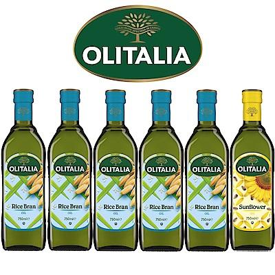 Olitalia奧利塔玄米油+葵花油禮盒組(750mlx6瓶)