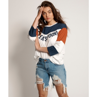 ONETEASPOON WW PACIFICA STEVIES LONG LENGTH BOYFRIEND SHORT 牛仔短褲-女(藍)