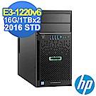 HP ML30 Gen9 E3-1220v6/16G/1TBx2/2016STD