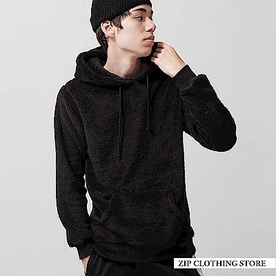 絨毛套頭連帽TEE(7色) ZIP日本男裝