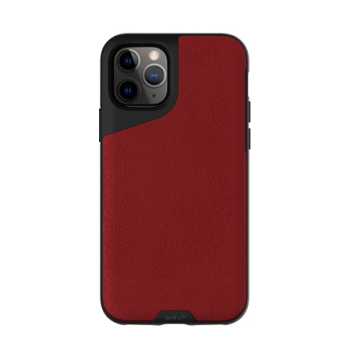 Mous Contour iPhone 11 Pro Max 天然材質防摔保護殼-緋紅皮革