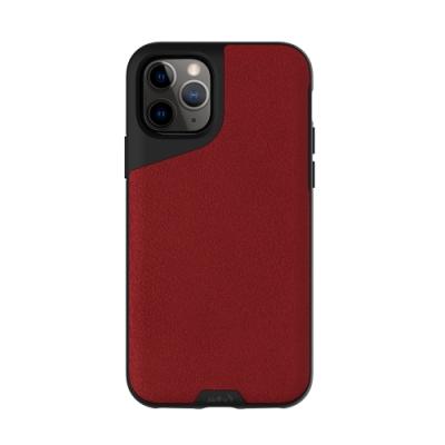 Mous Contour iPhone 11 Pro 天然材質防摔保護殼-緋紅皮革