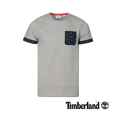 Timberland 男款中麻灰色防紫外線短袖T恤|A1X23