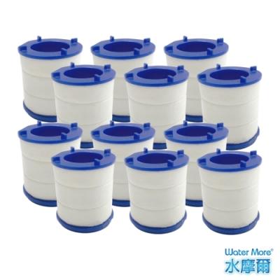 水摩爾 透明PP高密度濾棉除氯過濾器-專用替換濾芯(12入)