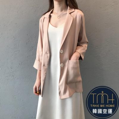 韓國空運 薄款大口袋西裝外套-3色-TMH