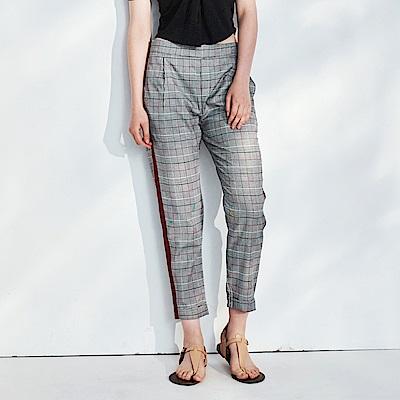 CACO-英倫格紋配條長褲-女【PSH263】
