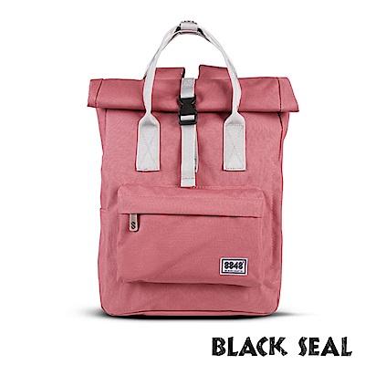 福利品 BLACK SEAL 聯名8848系列- 捲蓋式多隔層休閒後背包- 西瓜紅
