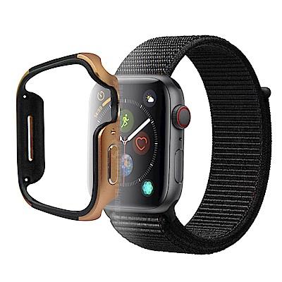 刀鋒Edge Apple Watch Series 4(44mm)鋁合金雙料保護殼 古銅金