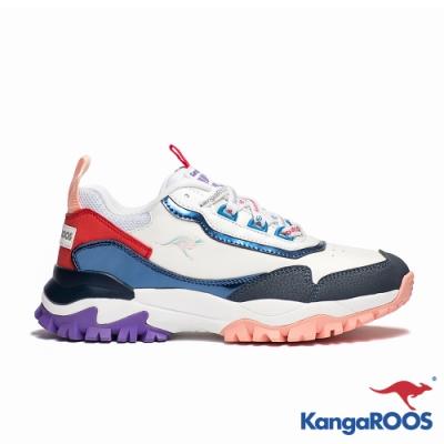 KANGAROOS 女 NEON 越野老爹鞋(白藍紅)