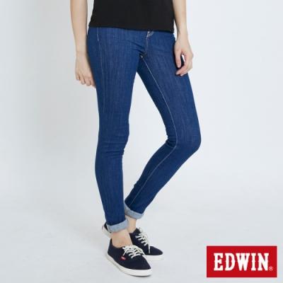 EDWIN MISS 復古高腰 窄管牛仔褲-女-原藍色