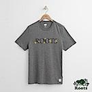 Roots 男裝-襯線短袖T恤-灰色