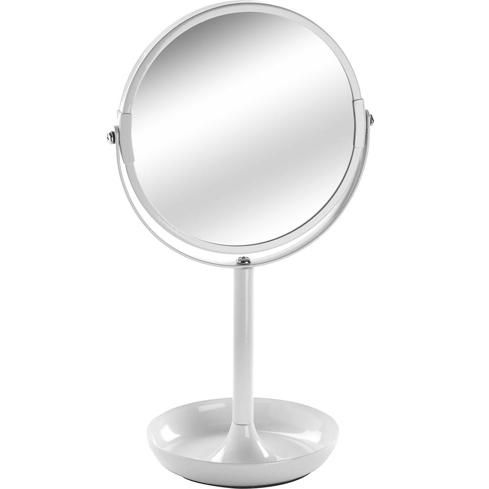 《VERSA》雙面高腳桌鏡(白)