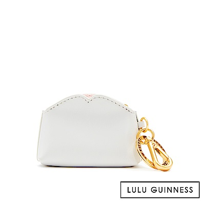 LULU GUINNESS COLETTE 鑰匙圈 (灰白)