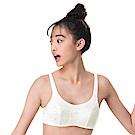 嬪婷-學生系列內衣 二階段 AA70-85 罩杯背心(仙人掌白)