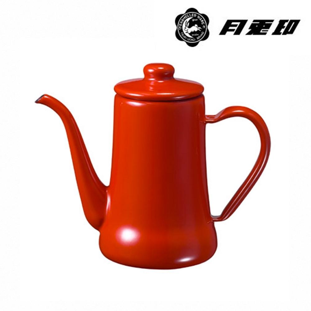JIA Inc. 品家家品 月兔印-琺瑯手沖壺 0.7L-紅色