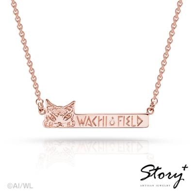 STORY故事銀飾-經典達洋貓系列-瓦奇菲爾德長牌純銀項鍊(玫瑰金)