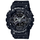 BABY-G 閃耀星空噴濺概念設計休閒錶( BA-110ST-1A)黑/43.3mm