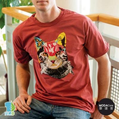 摩達客-美國進口The Mountain 美術貓 純棉環保藝術中性短袖T恤