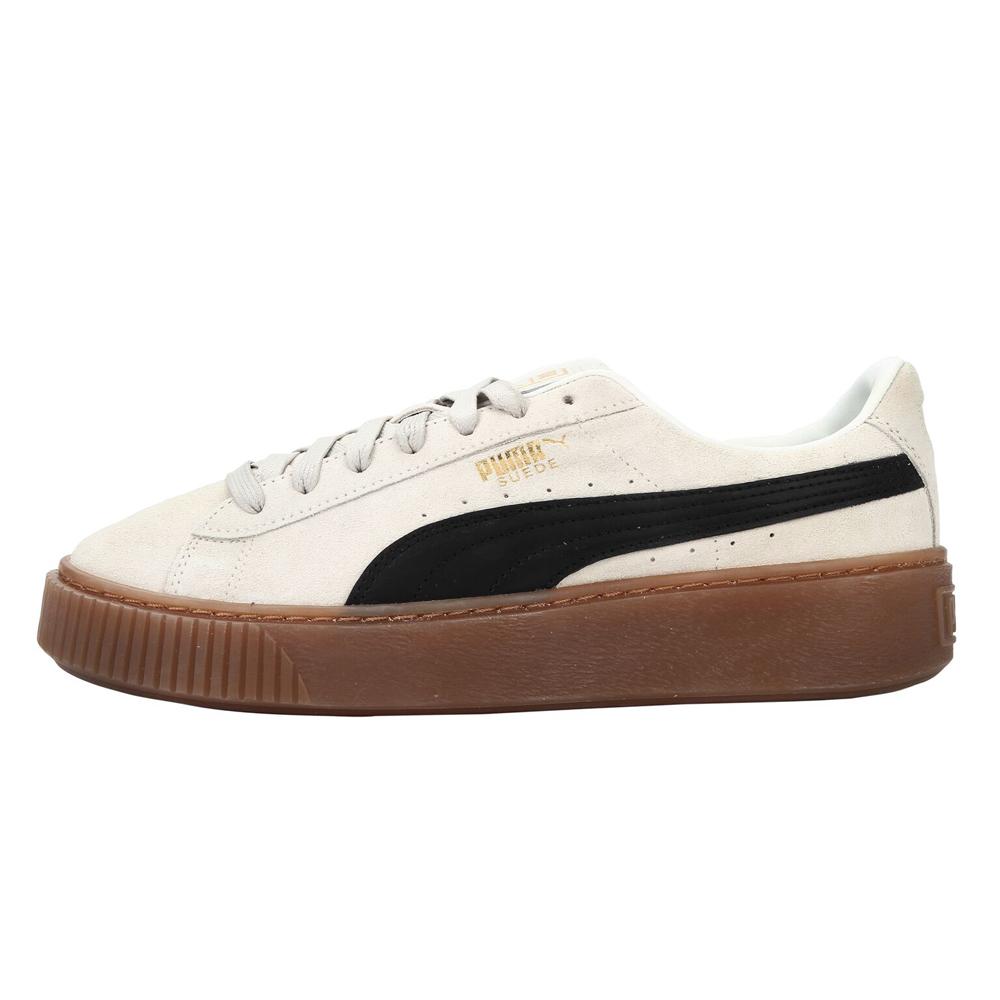 PUMA-SUEDE PLATFORM CORE女性休閒鞋-牙白