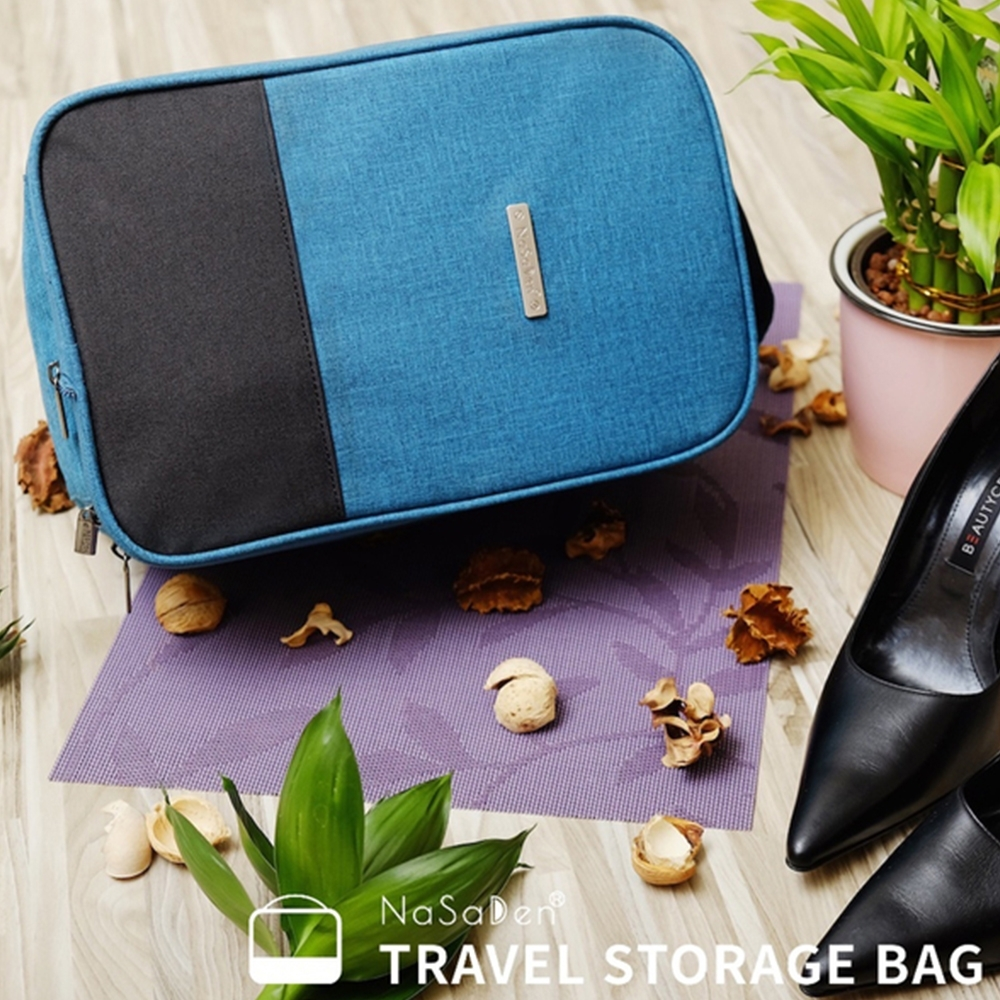 NaSaDen 鞋袋→高跟鞋/鞋類專用收納袋(孔雀藍)