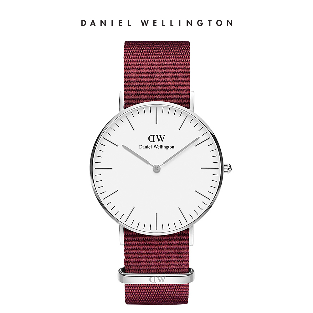 【Daniel Wellington】官方直營 Classic Roselyn 36mm玫瑰紅織紋錶 DW手錶