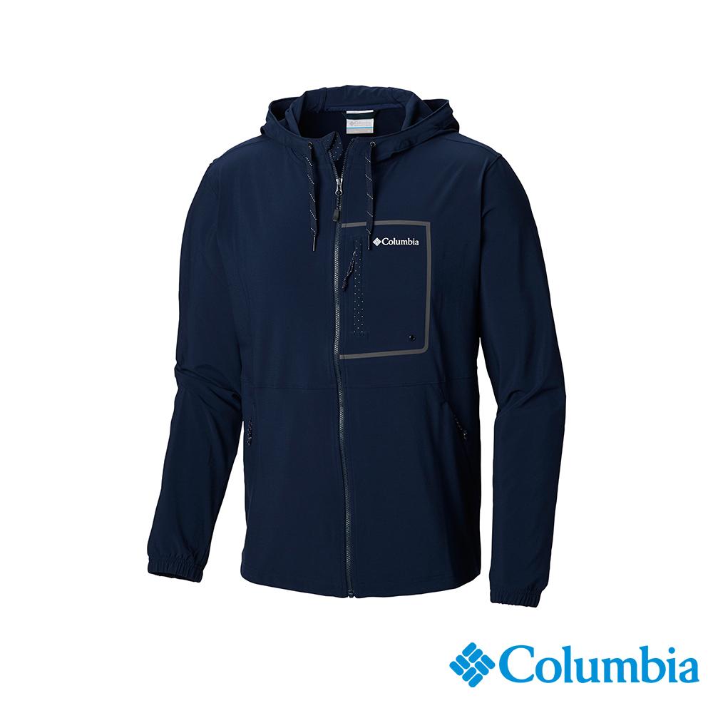 Columbia 哥倫比亞 男款-UPF50防潑防曬外套-深藍UAO06390NY