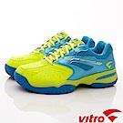 Vitro韓國專業運動品牌-SMASH-T-L/S.B頂級網球鞋-藍綠(女)