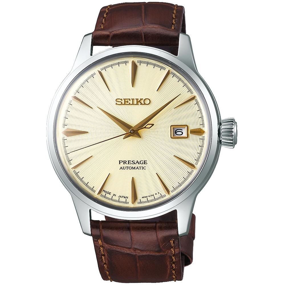 SEIKO精工Presage調酒師41小時動力儲存機械腕錶(SRPC99J1)