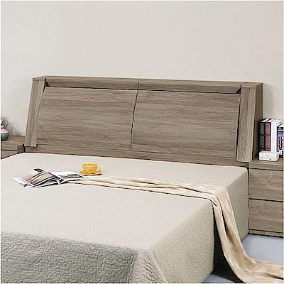 綠活居 波哥亞5尺雙人床頭箱(三色+不含床底)-150x30x106.2cm免組